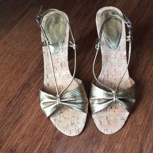 Shoes - Bronze high heel sandals